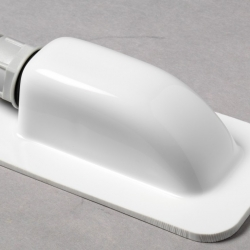 Dakdoorvoer enkel wit type DD1/W